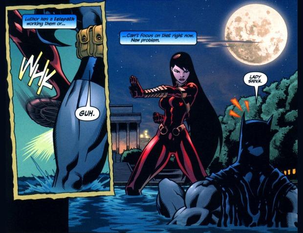 batman vs mind-controlled lady shiva