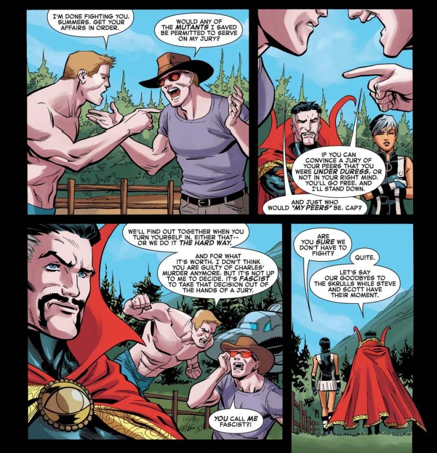 captain america believes cyclops is innocent