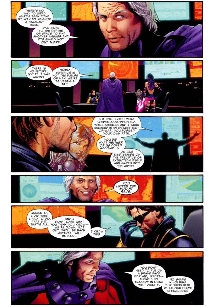 magneto praises cyclops' leadership