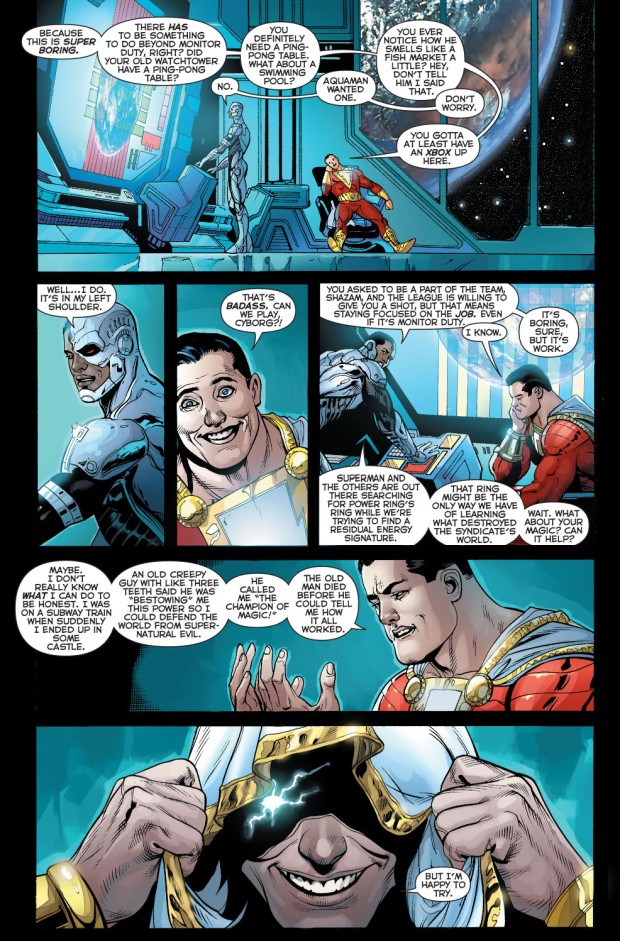 shazam's first monitor duty