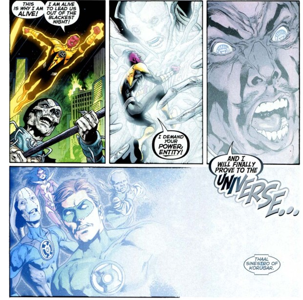sinestro as a white lantern
