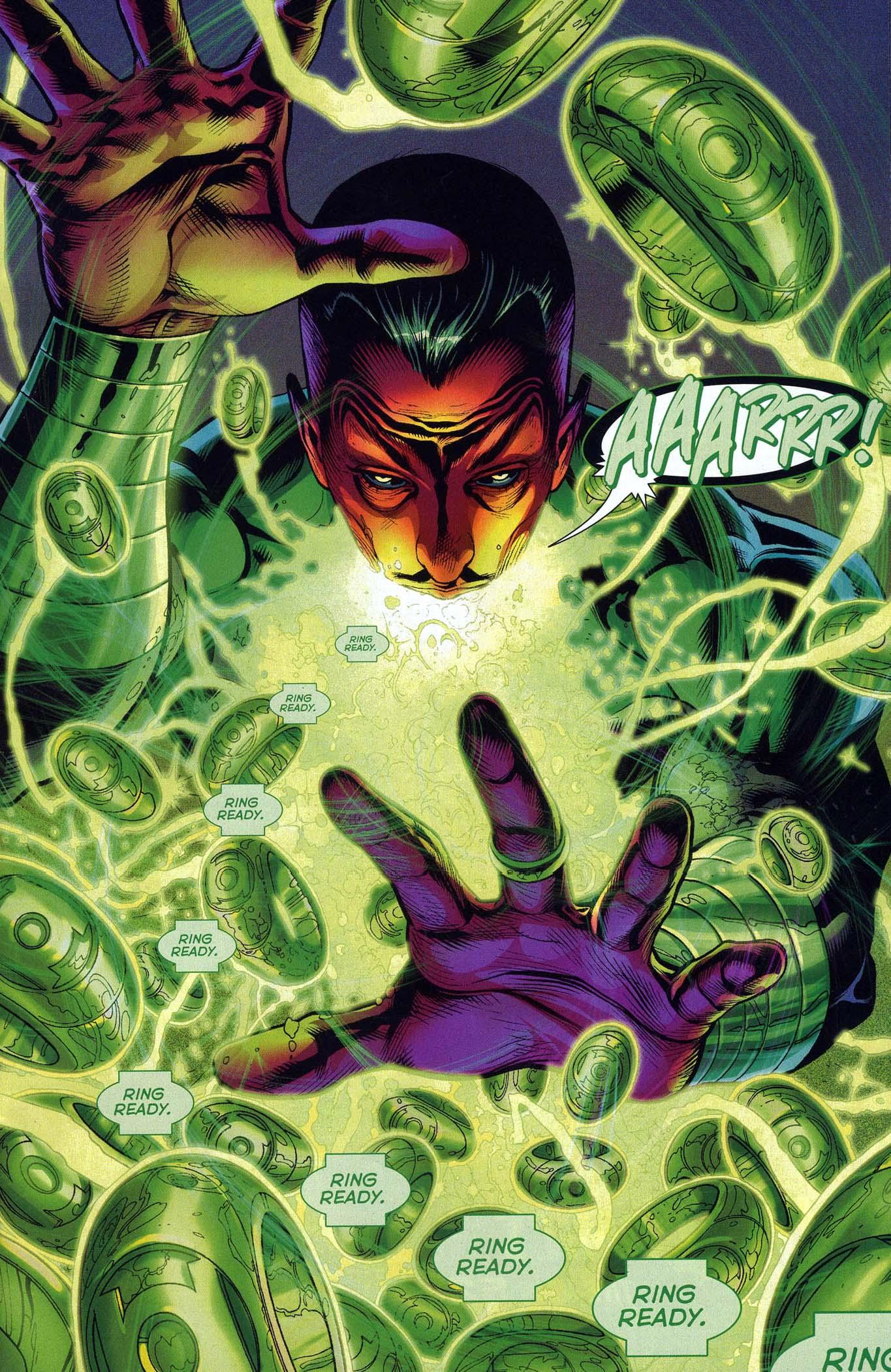 Sinestro Constructs 100 Green Lantern Rings Comicnewbies