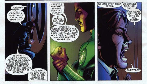 sinestro constructs 100 green lantern rings