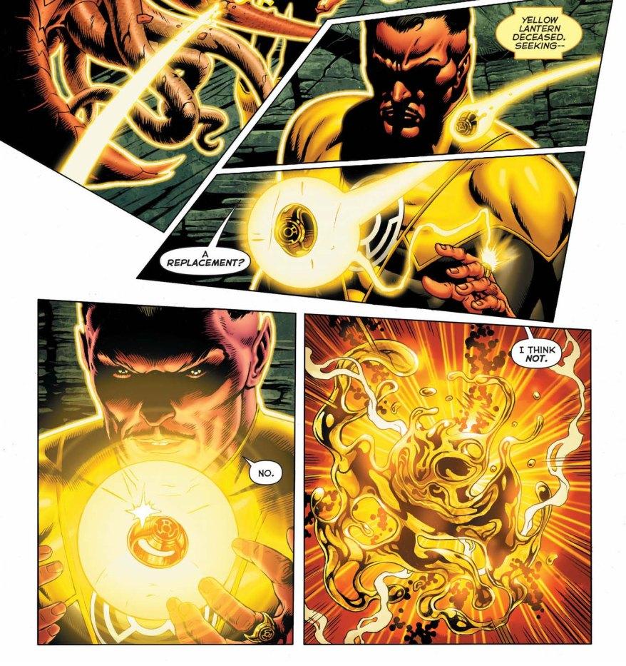sinestro destroys a yellow ring