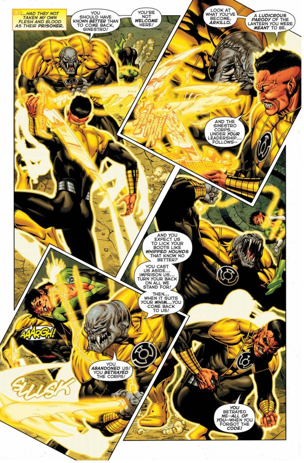 sinestro vs arkillo