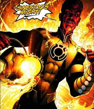sinestro with yellow lantern battery