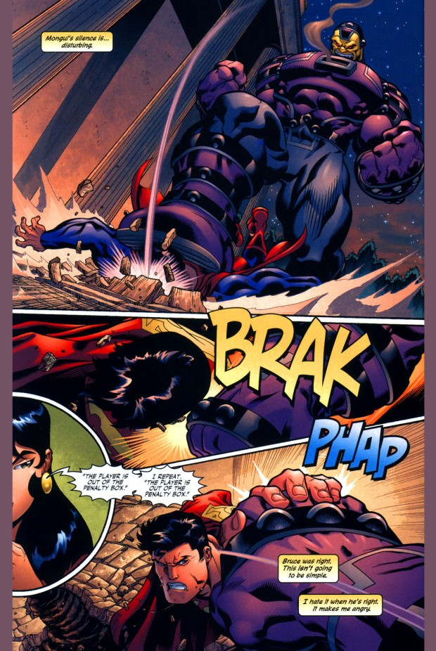 superman vs mind-controlled mongul