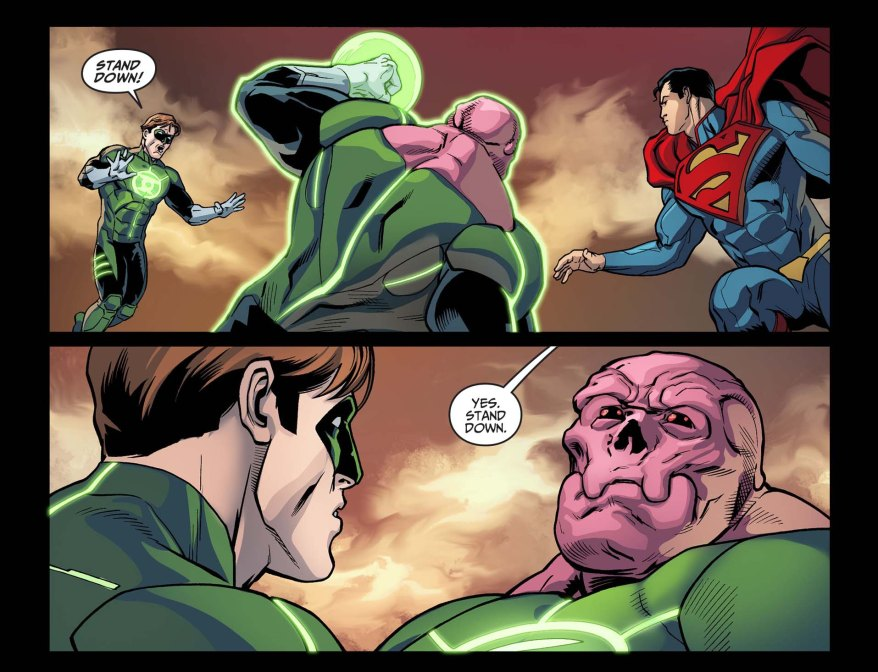 the sinestro corps sides with superman