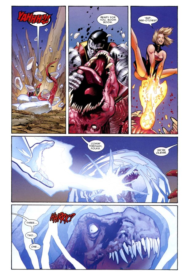 x-men takes down a predator x 3