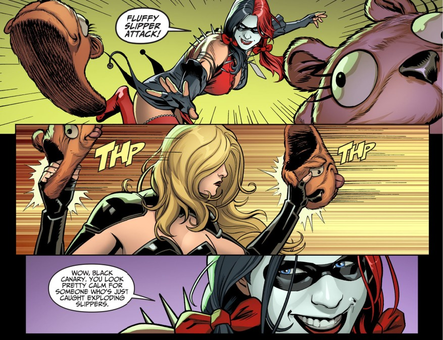 black canary vs harley quinn