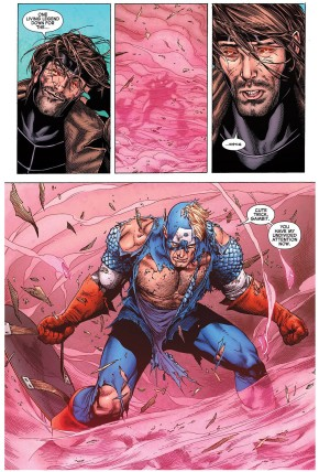 captain america vs gambit 2