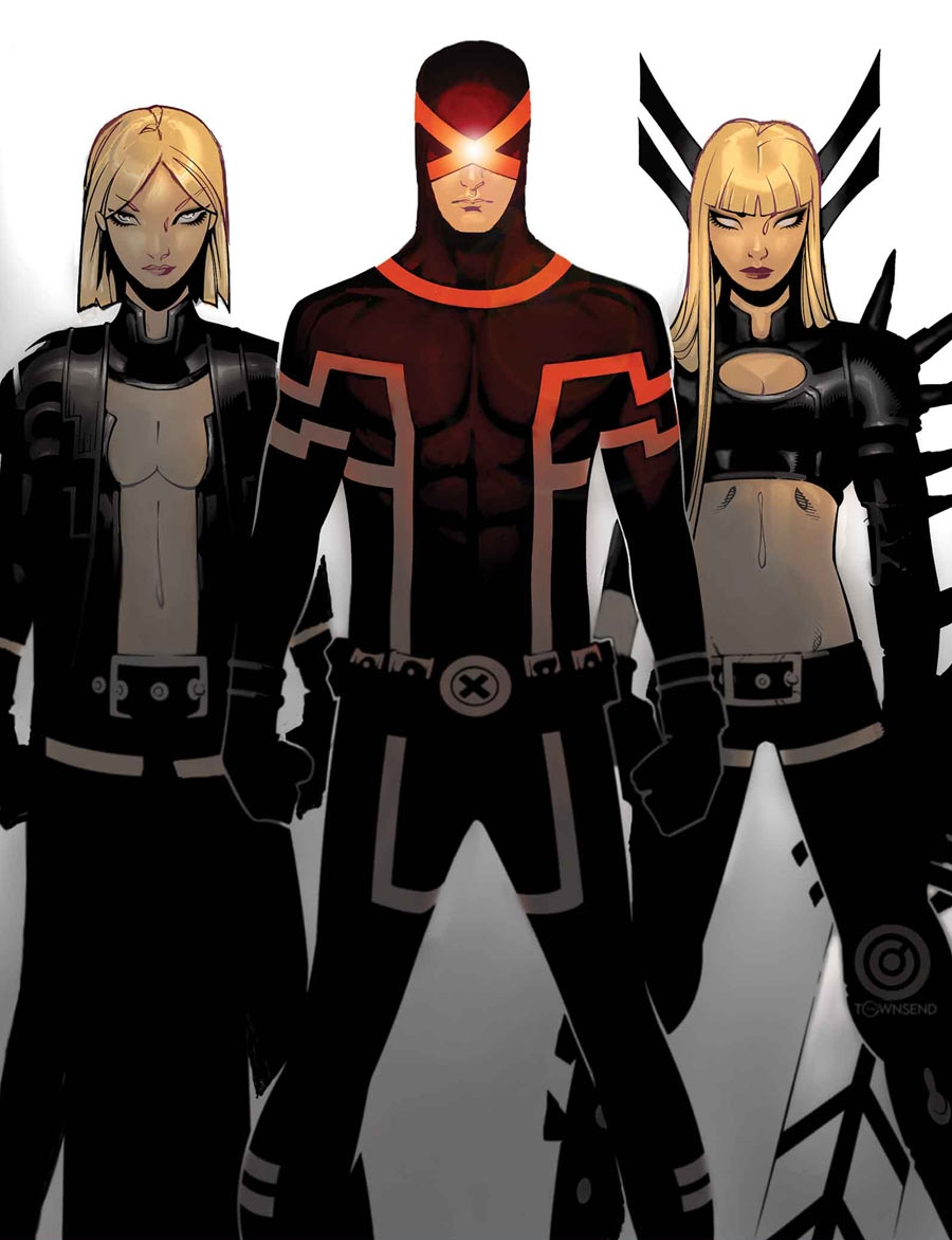 X Men Cyclops And Emma Frost X-Men New Costu...