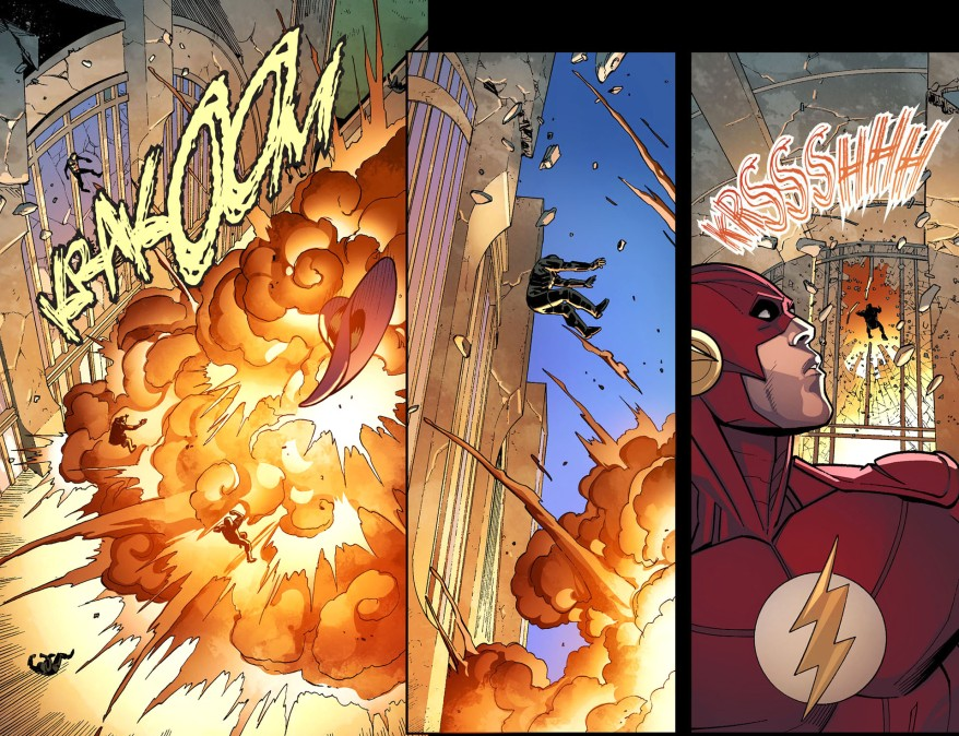 how batman's team took out the flash 3