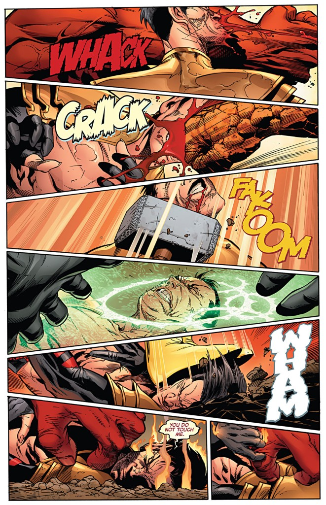 how namor broke red hulk's arm 2