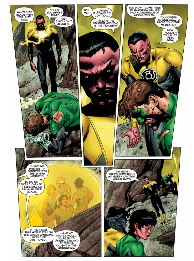 sinestro's complete mastery of parallax 3