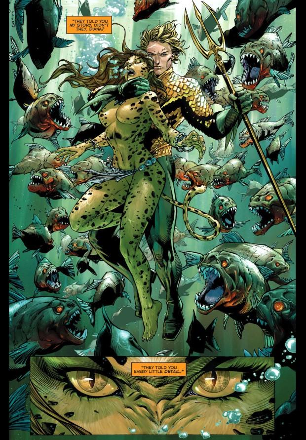 the flash, wonder woman and aquaman vs the cheetah 4