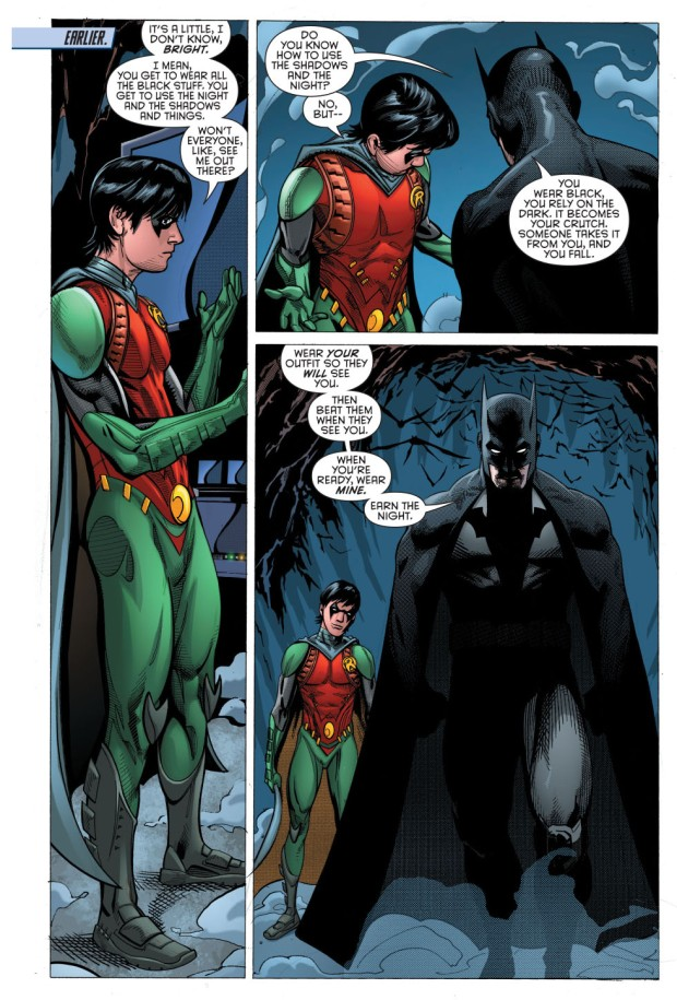 batman's explanation for robin's costume