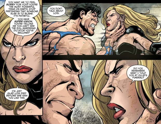 black canary takes down superman 1