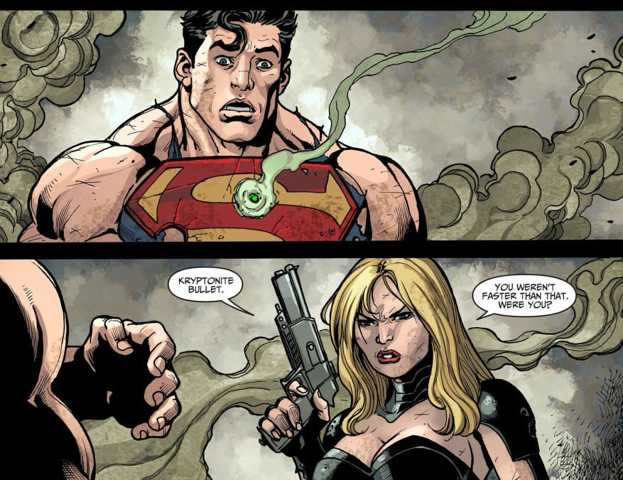 black canary takes down superman 3
