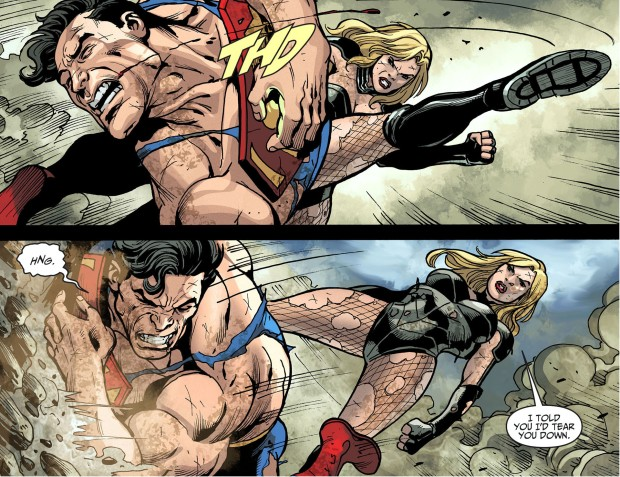 black canary takes down superman 4
