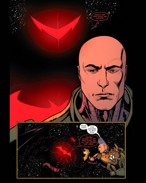 luthor helps with the hellbat 1