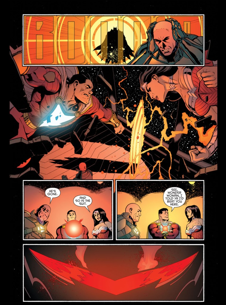 luthor helps with the hellbat 4