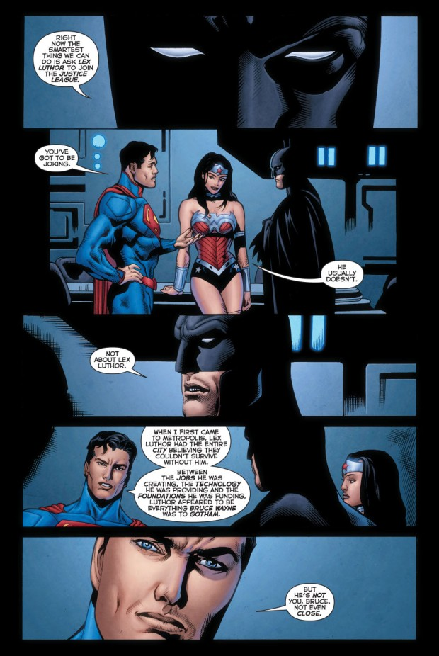 superman welcomes luthor to the justice league 1
