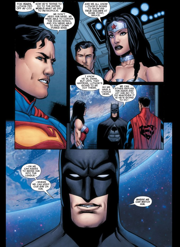 superman welcomes luthor to the justice league 2