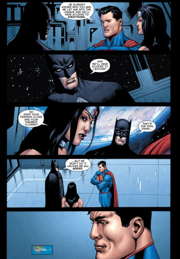 superman welcomes luthor to the justice league 3