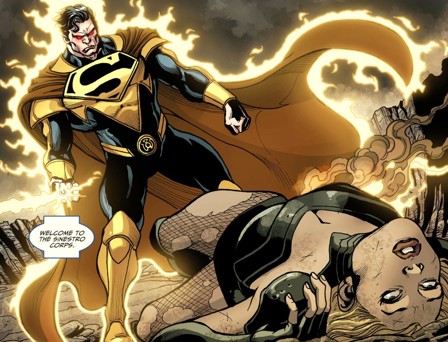 superman with a sinestro corps ring 5