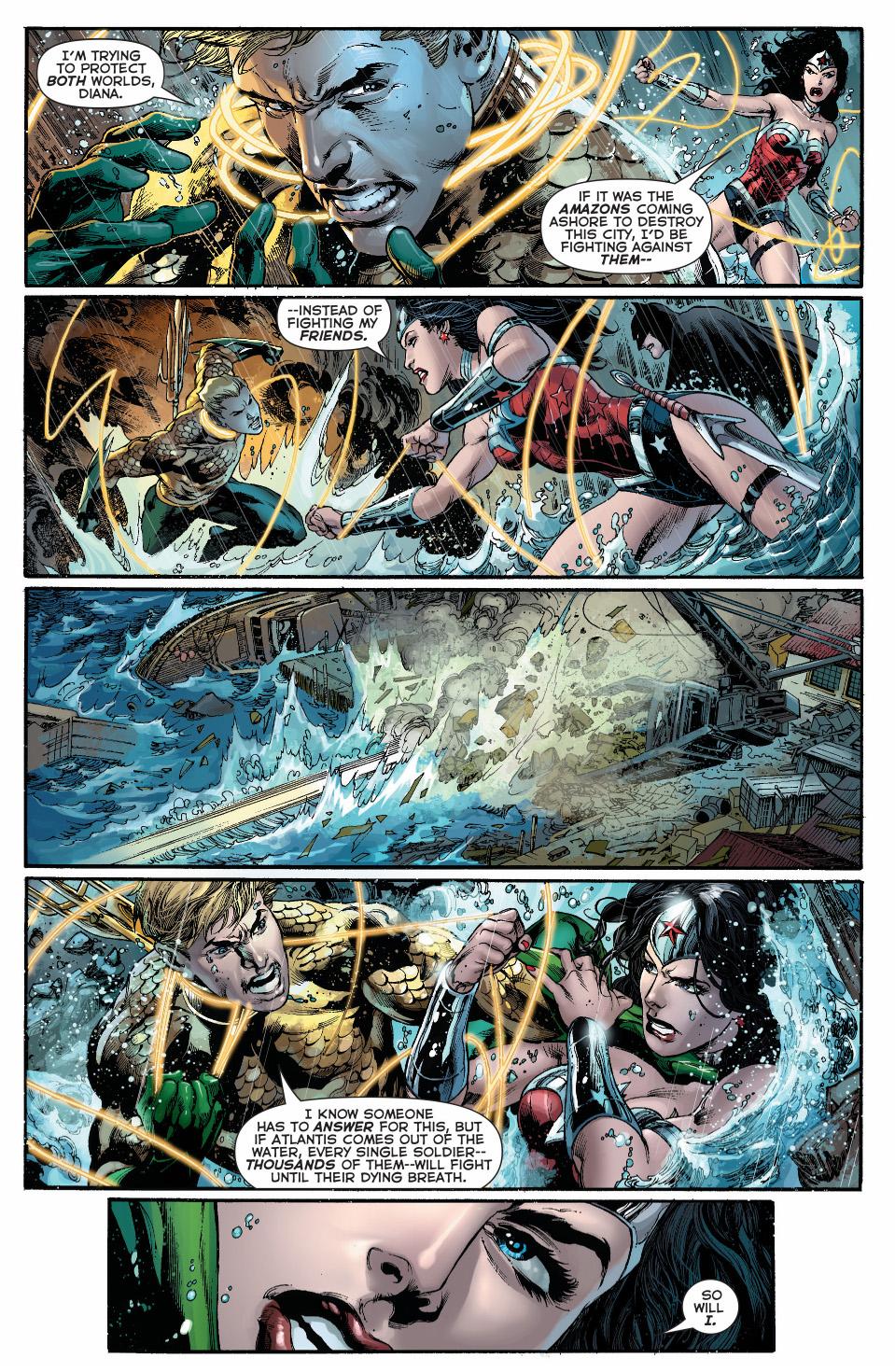 Wonder woman beaten justice league