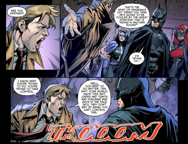batman takes out constantine with one punch 2