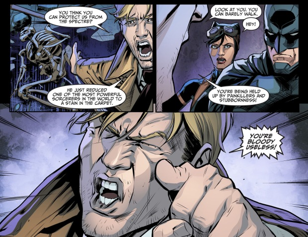 batman takes out constantine with one punch 3