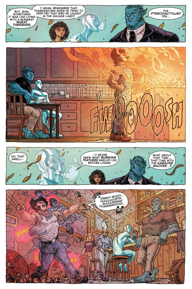 beast and iceman's funny memory of wolverine 2