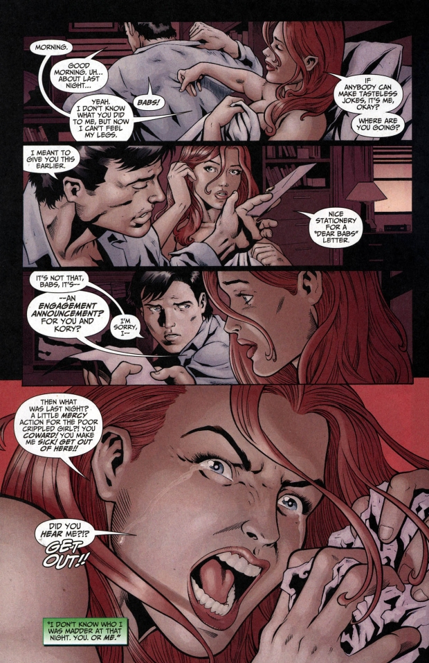 the worst thing nightwing did to oracle 2