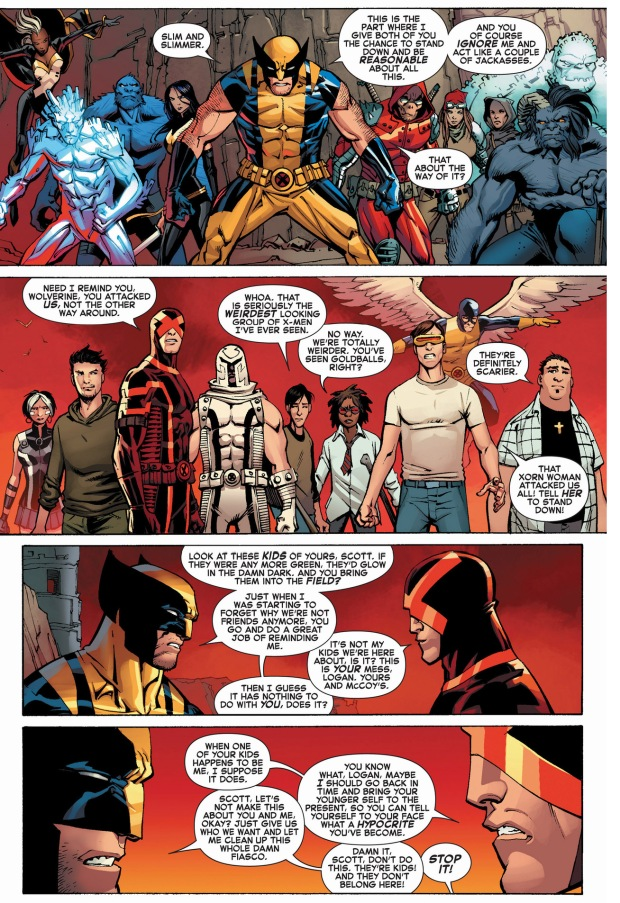 Cyclops explains why wolverine is a hypocrite