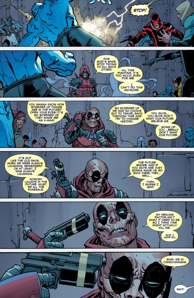 how deadpool stopped a battle