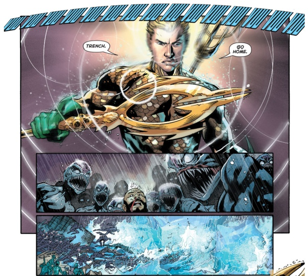 justice league and atlanteans vs the trench