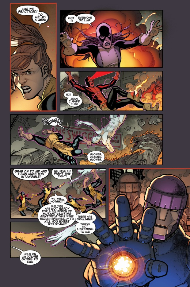 original 5 x-men attacked by sentinels