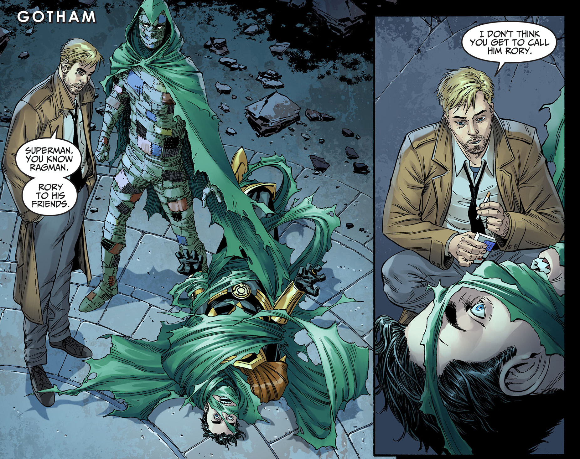 Ragman Traps Superman Comicnewbies