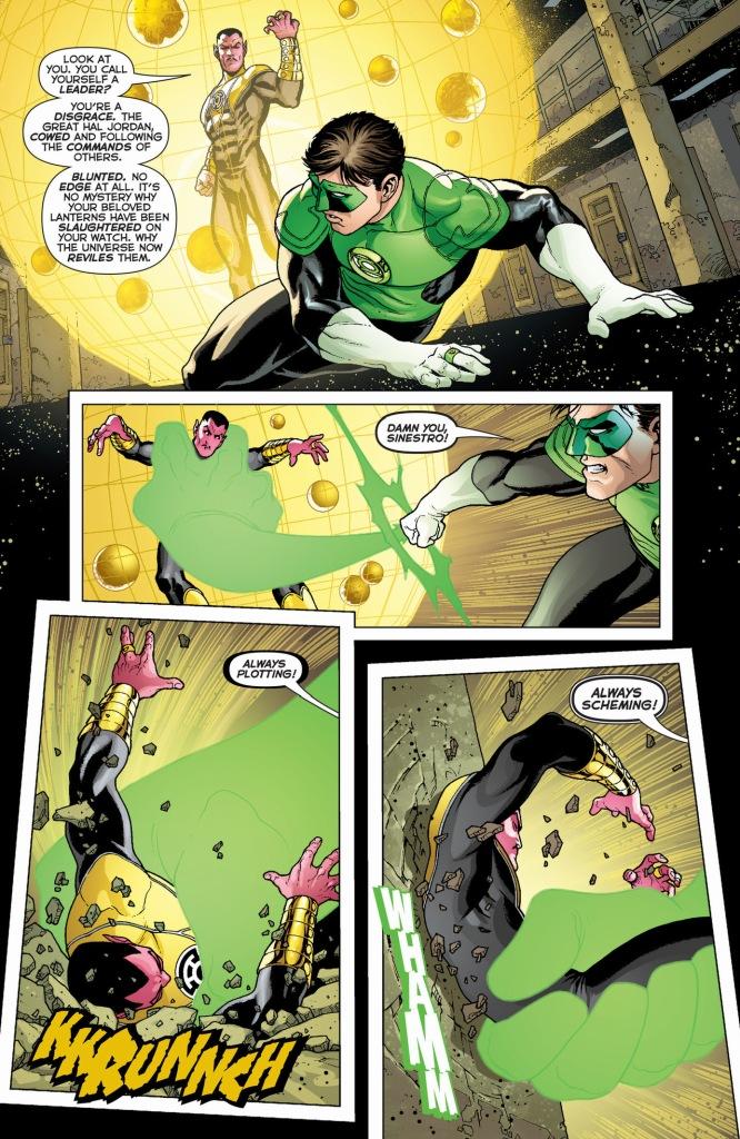 Sinestro reminds Hal Jordan what he's good at