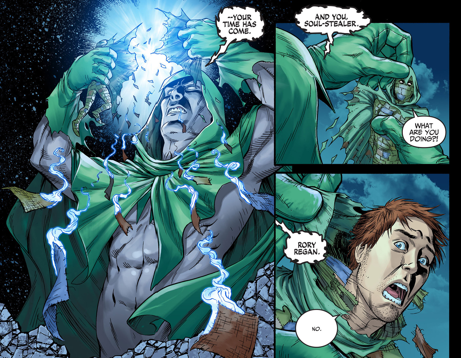 The Spectre Punishes Ragman Comicnewbies