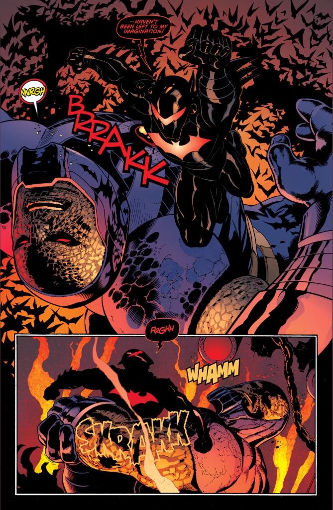 batman in hellbat armor vs darkseid