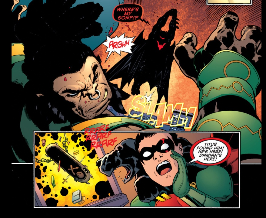 batman in hellbat armor vs kalibak