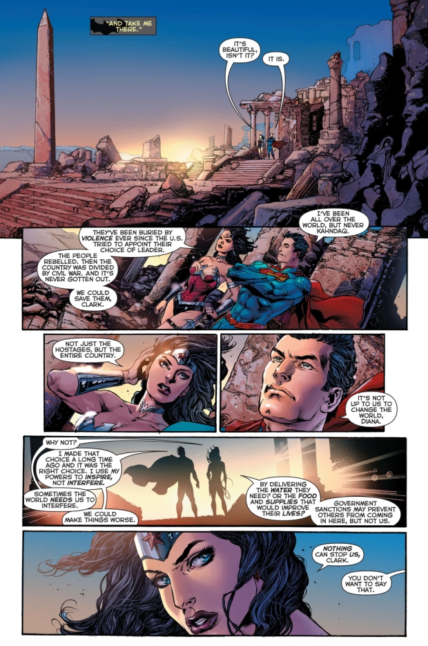 superman and wonder woman new 52 relationship help
