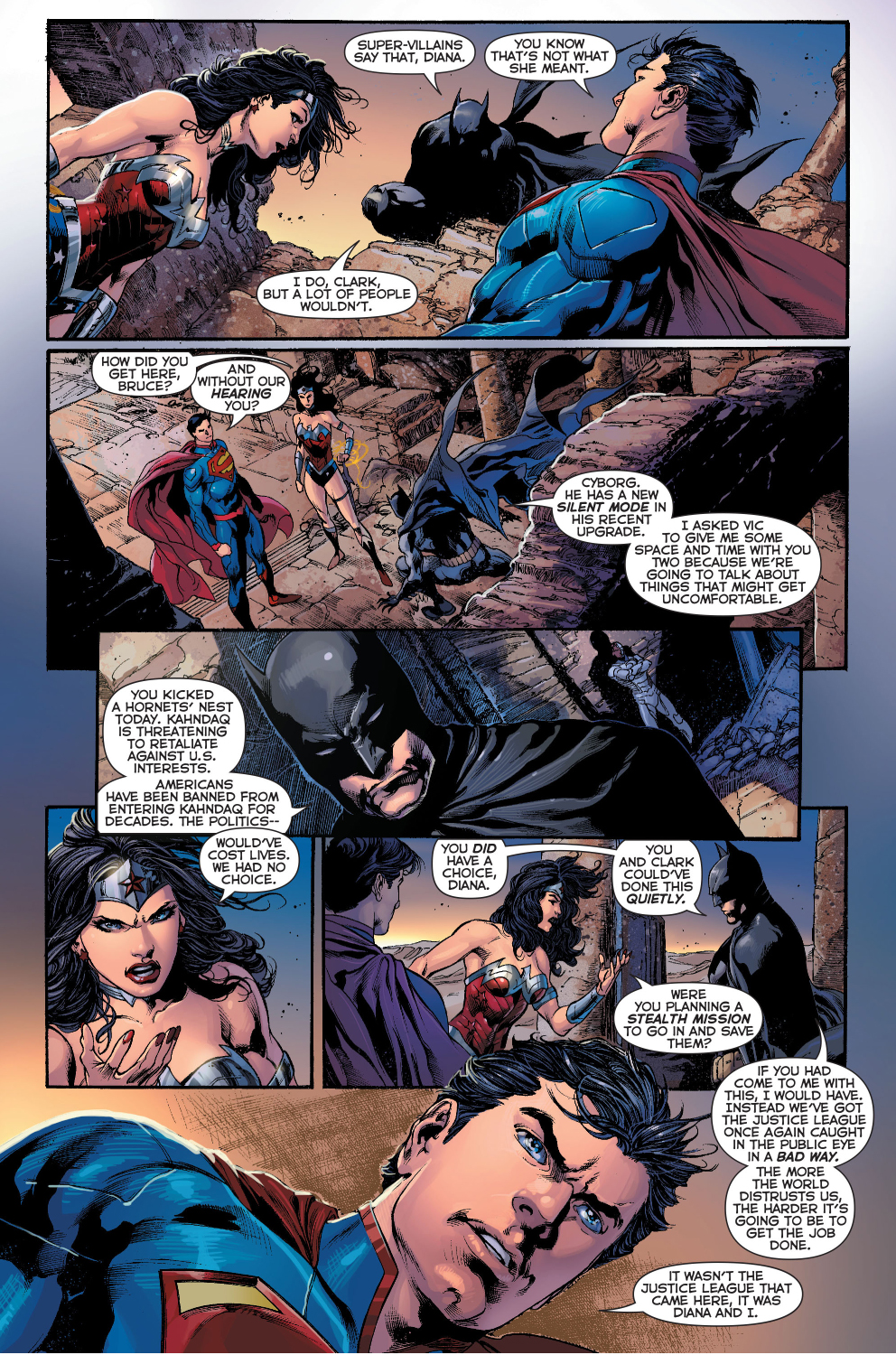 Batman Talks To Superman And Wonder Woman About Their -9780
