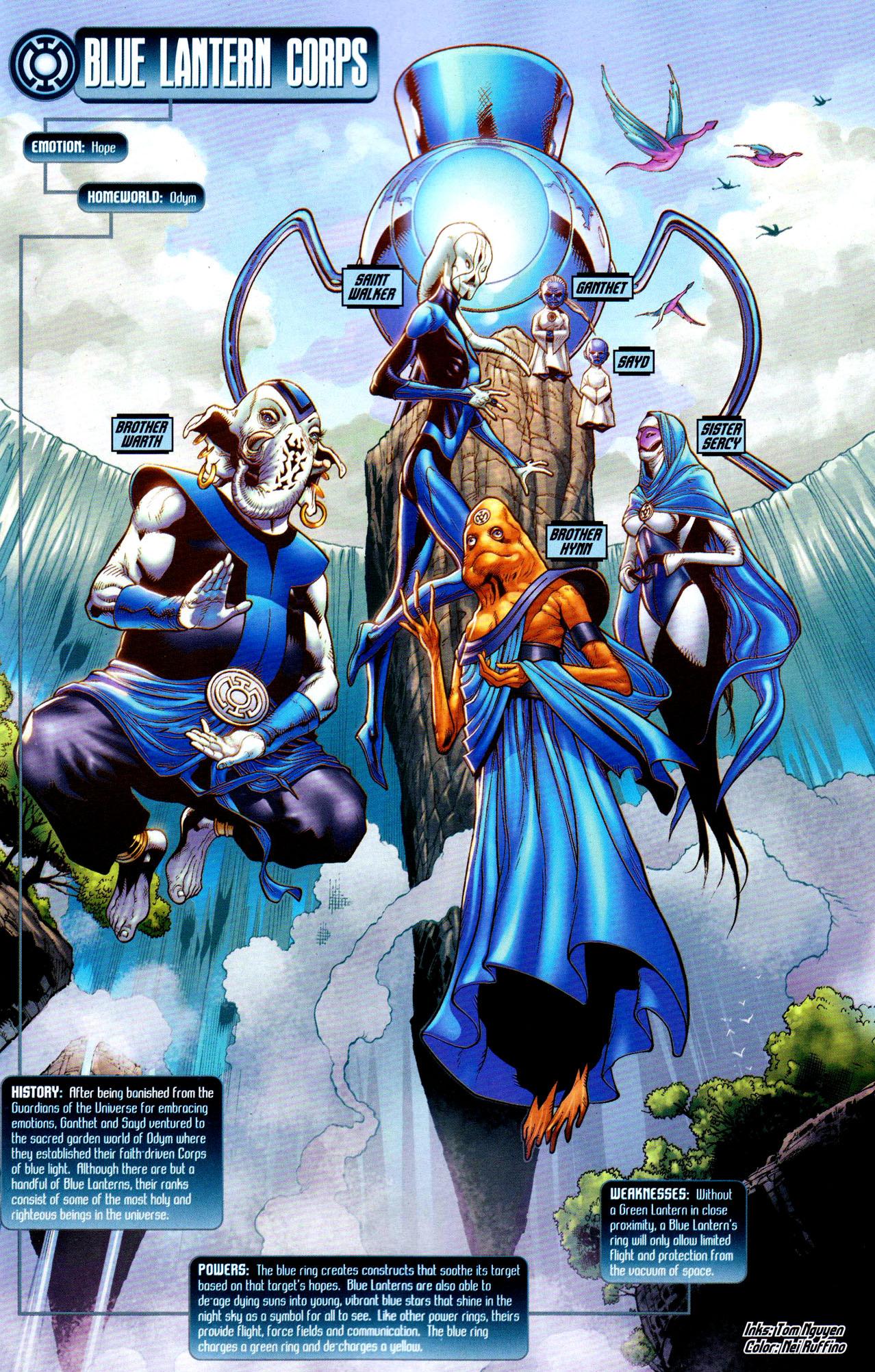 Blue Lantern Corps Blackest Night Comicnewbies