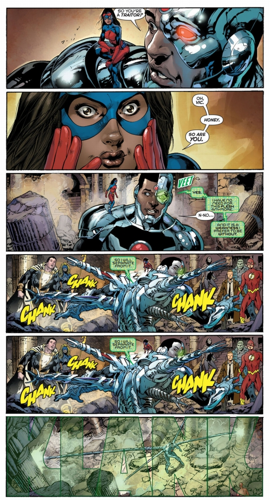 cyborg's suit becomes sentient