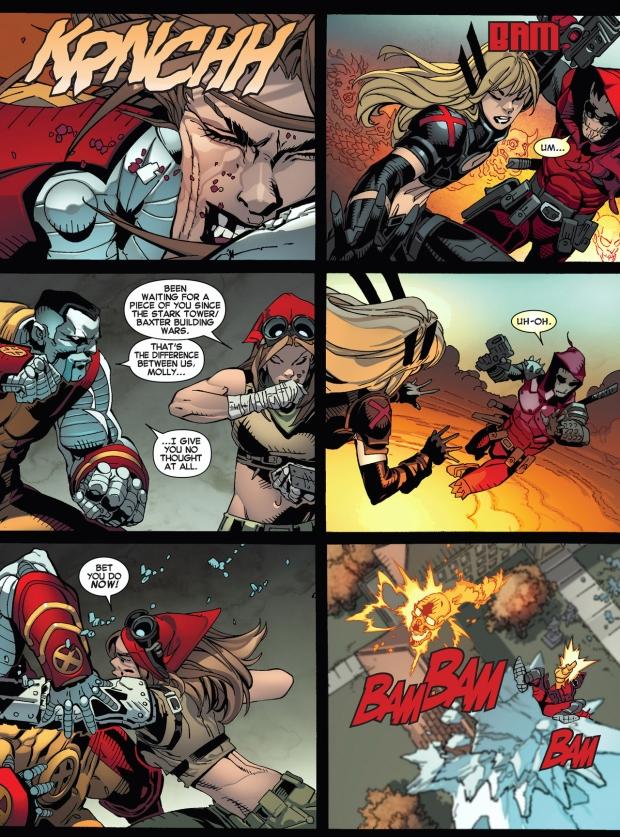future deadpool and molly hayes vs future colossus and magik