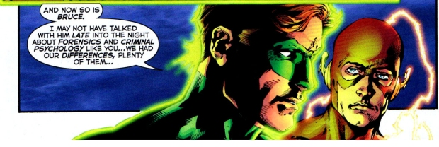 hal jordan and batman talks about their parents